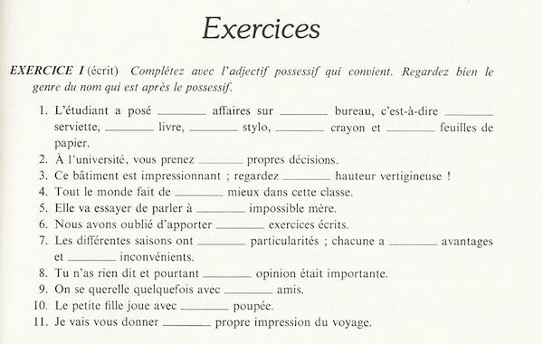French2b Les Adjectifs Et Pronoms Possessifs